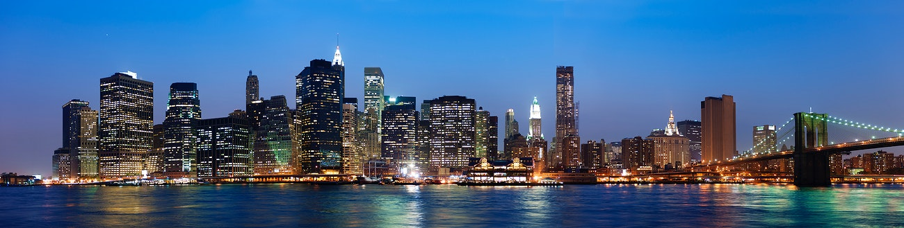 A View Of New York City At Night Time Royalty Free Photo 94241