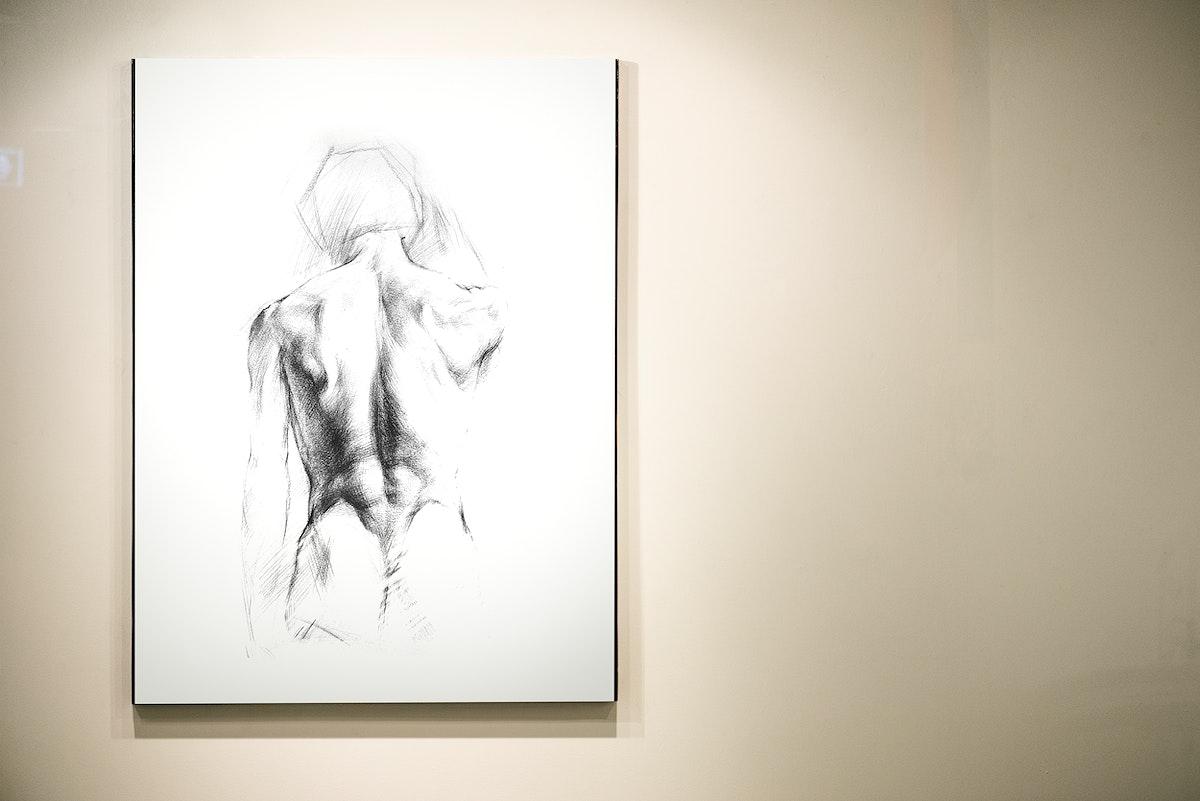 Beautiful drawing displayed on a wall