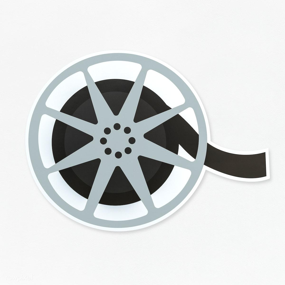 Movie Reel Icon Isolated Royalty Free Stock Psd Mockup 476654