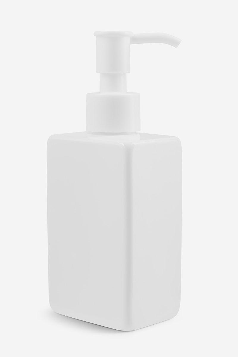 Blank white pump bottle mockup