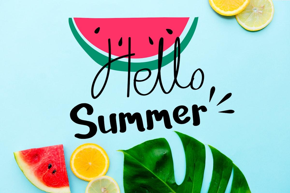 Summer themed tropical beach design