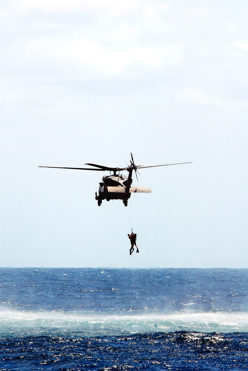 Rescue training exercise, known as Mode VIII. Original from NASA. Digitally enhanced by rawpixel.