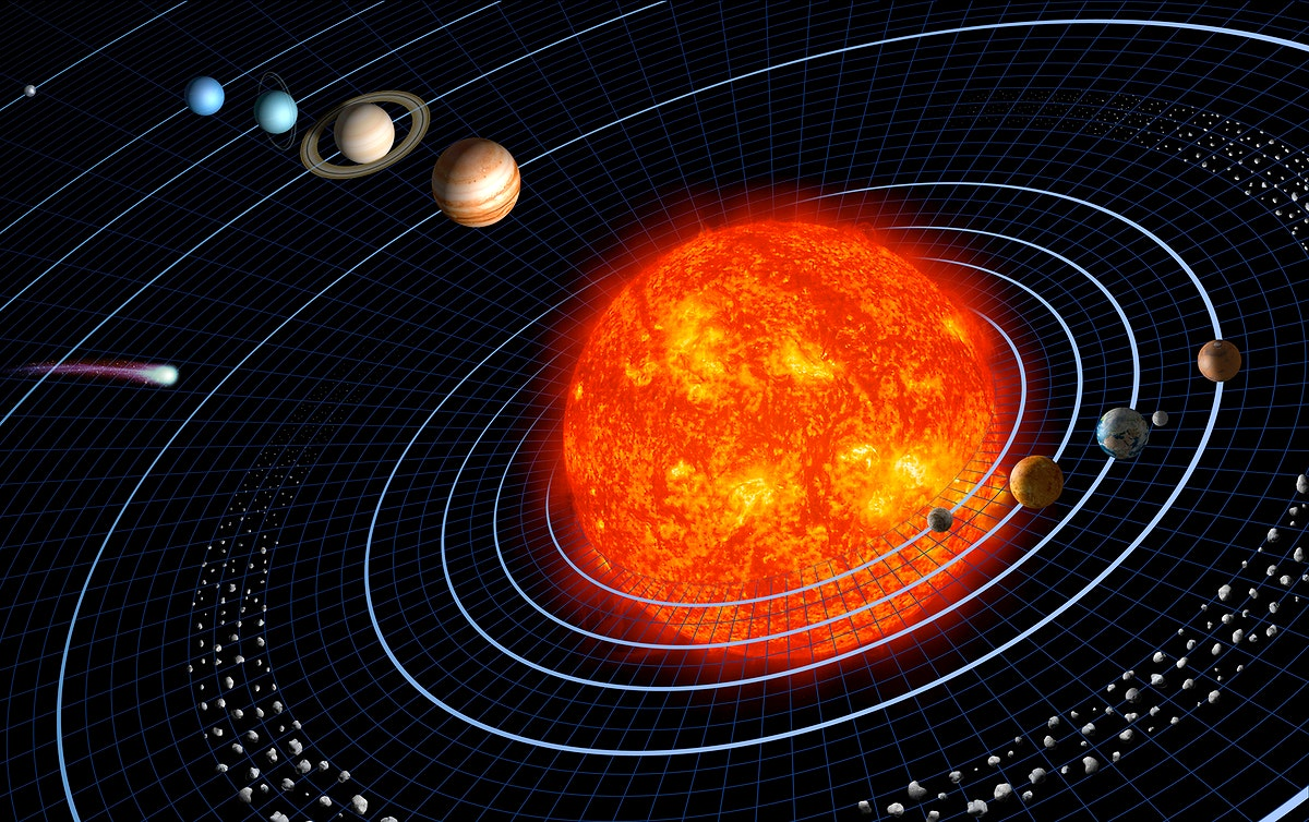 Our solar system featuring eight planets. Original from NASA. Digitally enhanced by rawpixel.