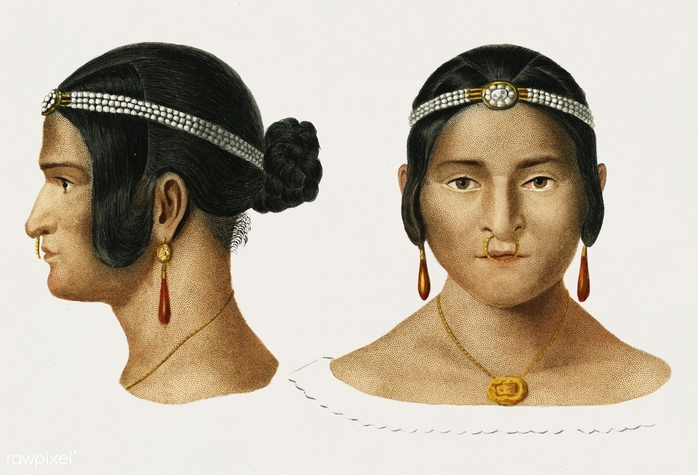 Human race illustrated by Charles Dessalines D' Orbigny (1806-1876). Digitally enhanced from our own 1892 edition of...