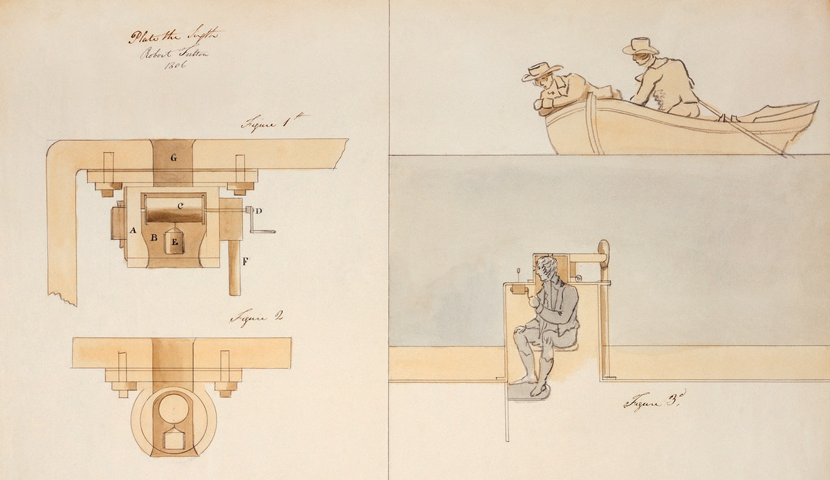 Illustration by an American engineer and inventor, Robert Fulton (1765-1815), of cock cavity and wheel details for Plunging…