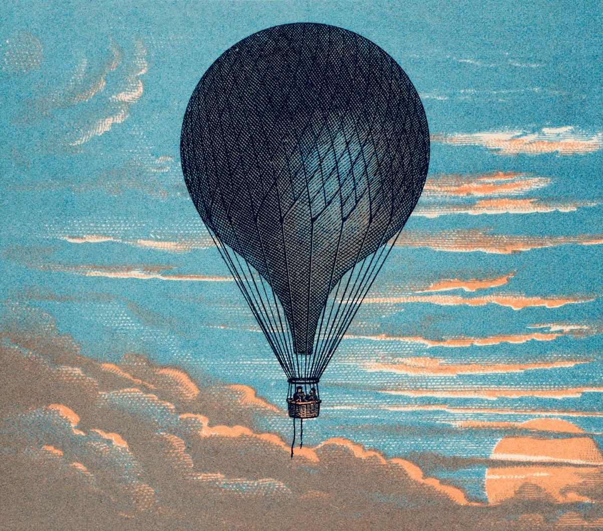 Le Ballon by Imprimeur E. Pichot. Original from Library of Congress. Digitally enhanced by rawpixel.