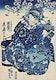 "Ogiya uchi Hanaogi by <a href=""https://www.rawpixel.com/search/utagawa%20kuniyoshi?sort=curated&amp;page=1"">Utagawa Kuniyoshi</a> (1753-1806), translated The Courtesan Hanao of Ogi-ya, a traditional Japanese ukiyo-e style illustration of a well-dressed courtesan woman with elaborate hair ornaments sitting with an attendant. Original from Library of Congress. Digitally enhanced by rawpixel."