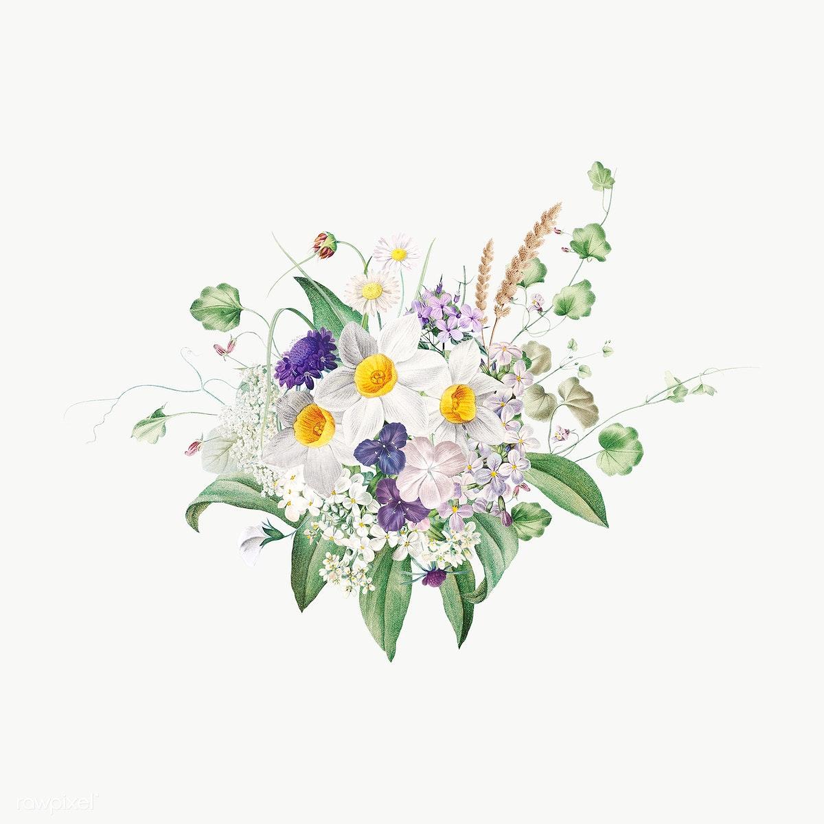 Summer Flowers Free Stock Illustration 573968