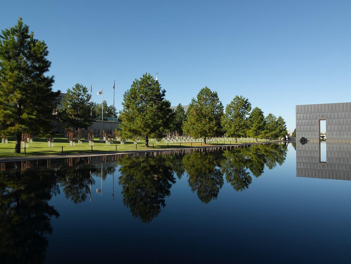 Oklahoma City Memorial located in Oklahoma City, Oklahoma. Original image from Carol M. Highsmith's America, Library of…