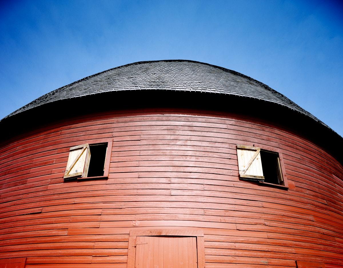 Round Barn, Arcadia, Oklahoma. Original image from Carol M. Highsmith's America, Library of Congress collection.…