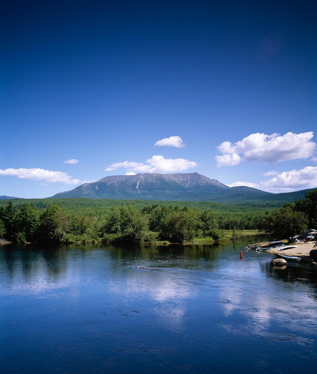 Mount Katahdin, Maine, Appalachian Trail. Original image from Carol M. Highsmith's America, Library of Congress…