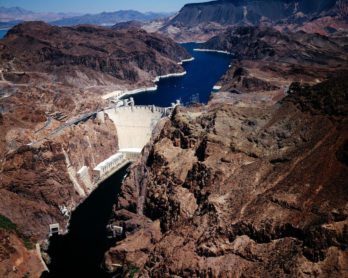 Above Hoover Dam near Boulder City, Nevada. Original image from Carol M. Highsmith's America, Library of Congress…
