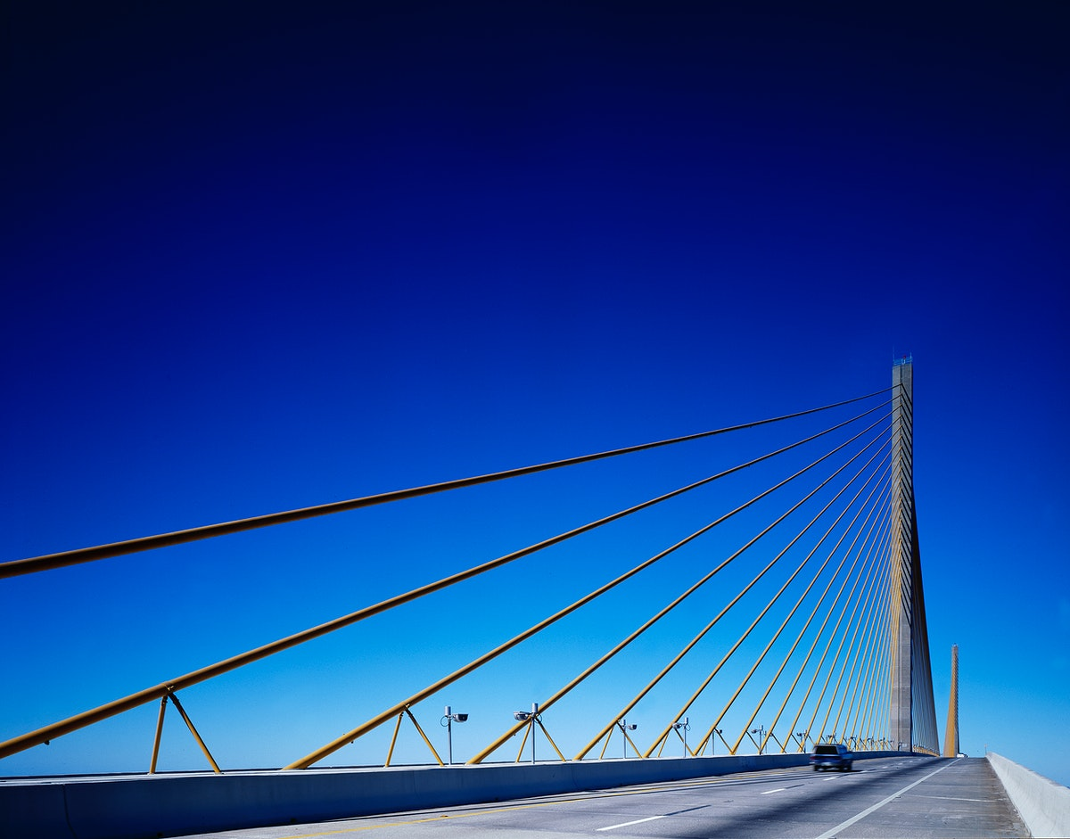Sunshine Skyway in Tampa Bay United States of America - Original image from Carol M. Highsmith's America, Library of…