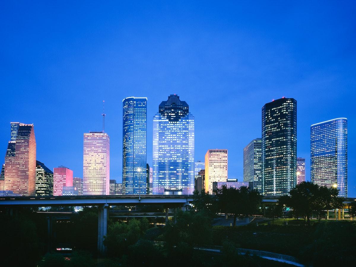 Houston, Texas skyline. Original image from Carol M. Highsmith's America, Library of Congress collection. Digitally…