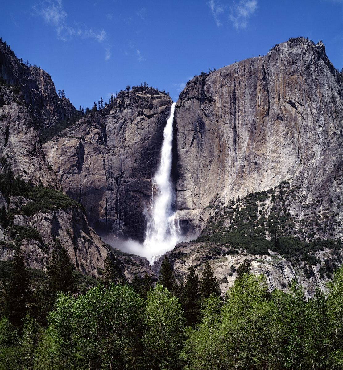 Spectacular Yosemite Falls, Yosemite National Park. Original image from Carol M. Highsmith's America, Library of…