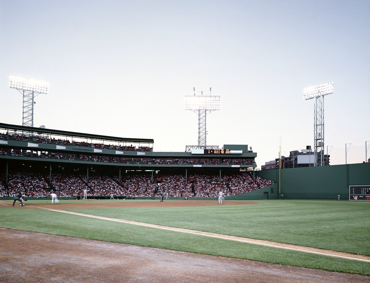 Fenway Park and the 'Green Monster,' Boston. Original image from Carol M. Highsmith's America, Library of Congress…