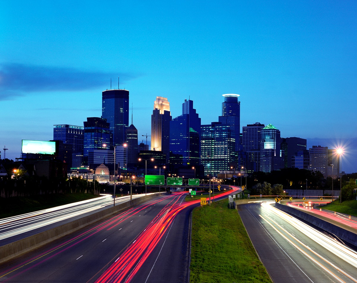 Minneapolis View. Original image from Carol M. Highsmith's America, Library of Congress collection. Digitally enhanced…