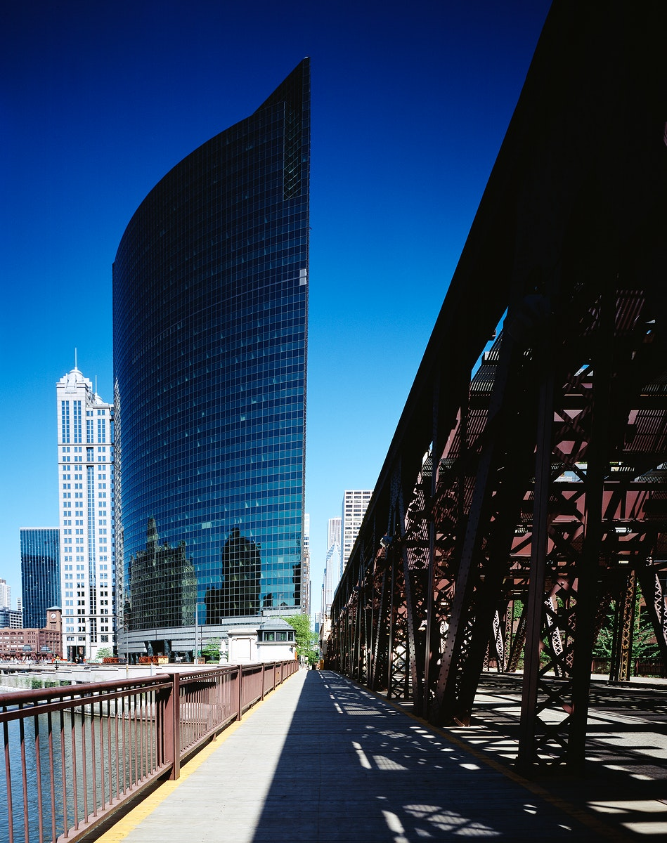 Along Chicago's Wacker Drive. Original image from Carol M. Highsmith's America, Library of Congress collection.…