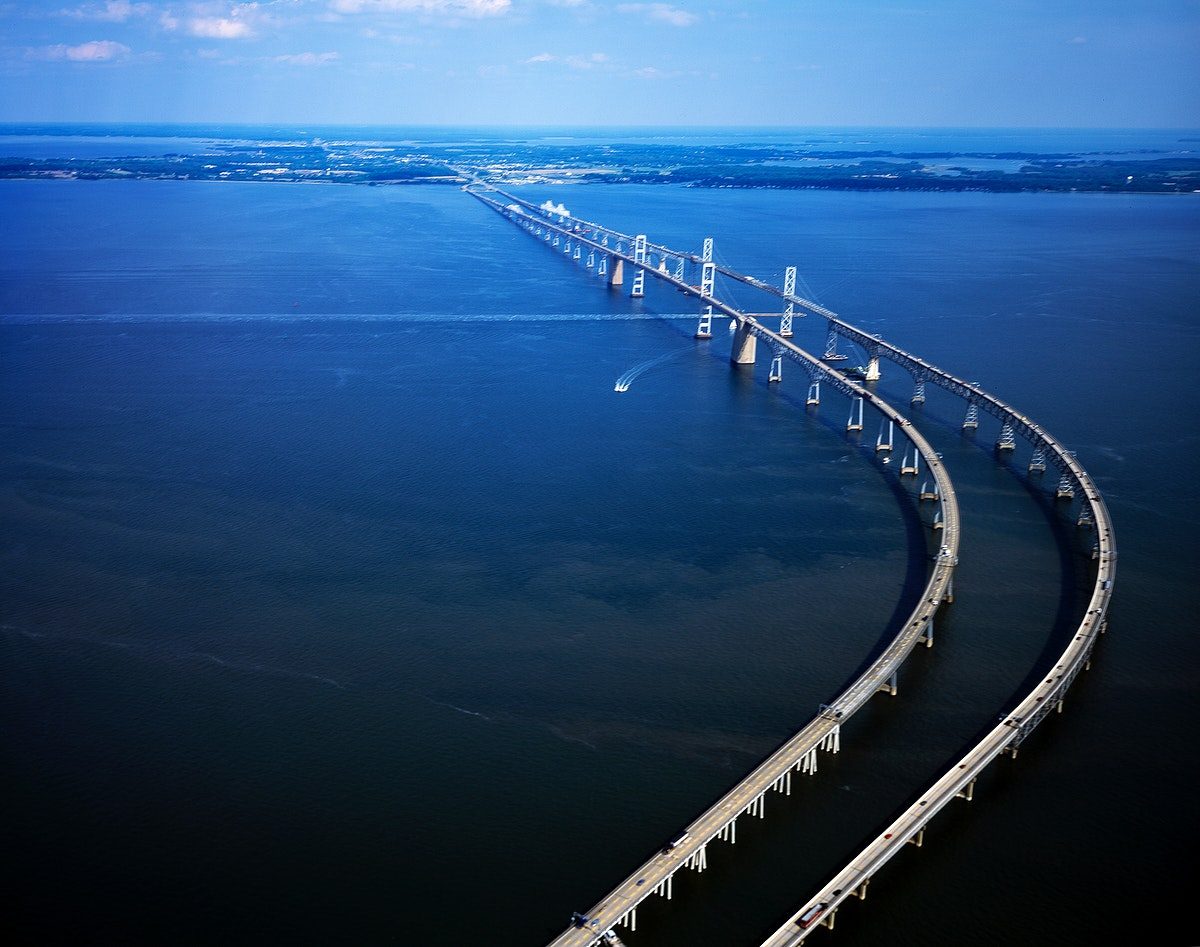 The Chesapeake Bay Bridge (commonly known as the Bay Bridge) is a major dual-span bridge in the U.S. state of Maryland.…