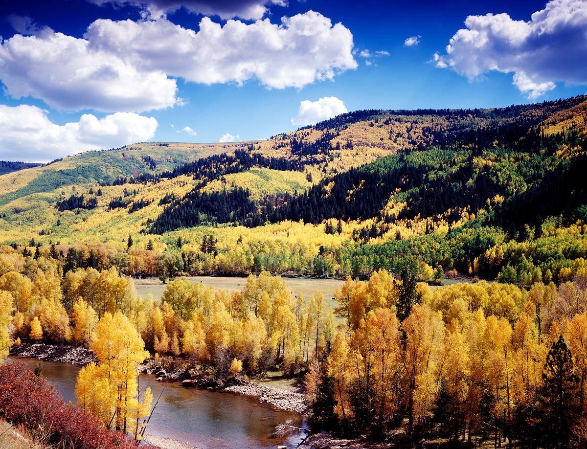 Colorado's Dolores River Valley in autumn - Original image from Carol M. Highsmith's America, Library of Congress…
