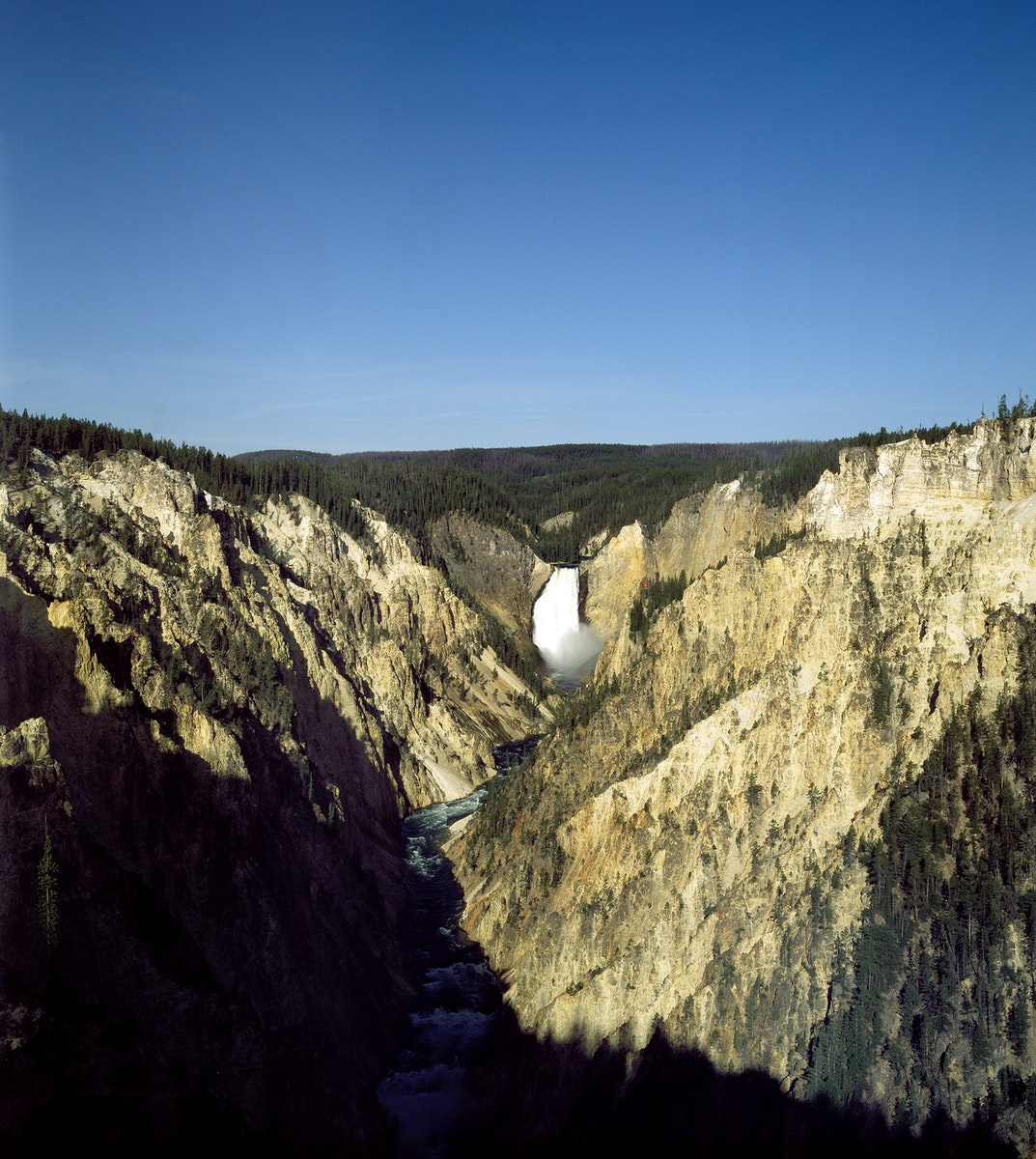 Water Fall at Yellowstone National Park. Original image from Carol M. Highsmith's America, Library of Congress…