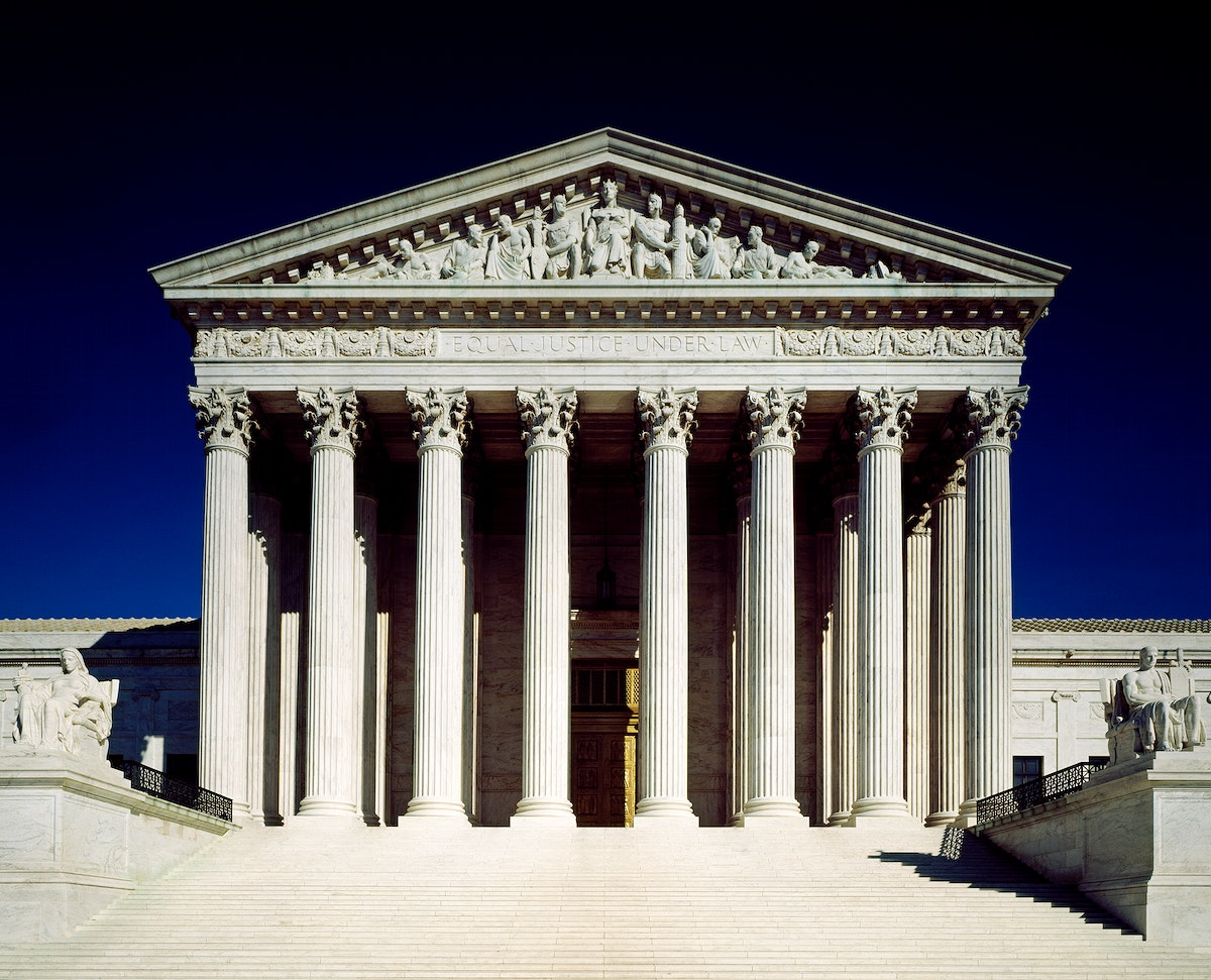 The Supreme Court Building on 1 First Street, NE. Original image from Carol M. Highsmith's America, Library of Congress…
