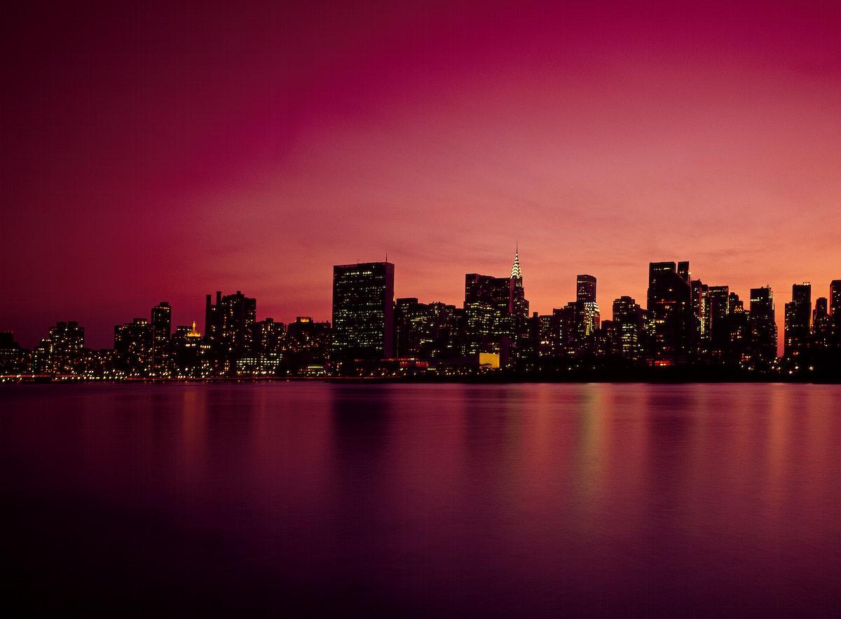 Manhattan Skyline. Original image from Carol M. Highsmith's America, Library of Congress collection. Digitally enhanced…