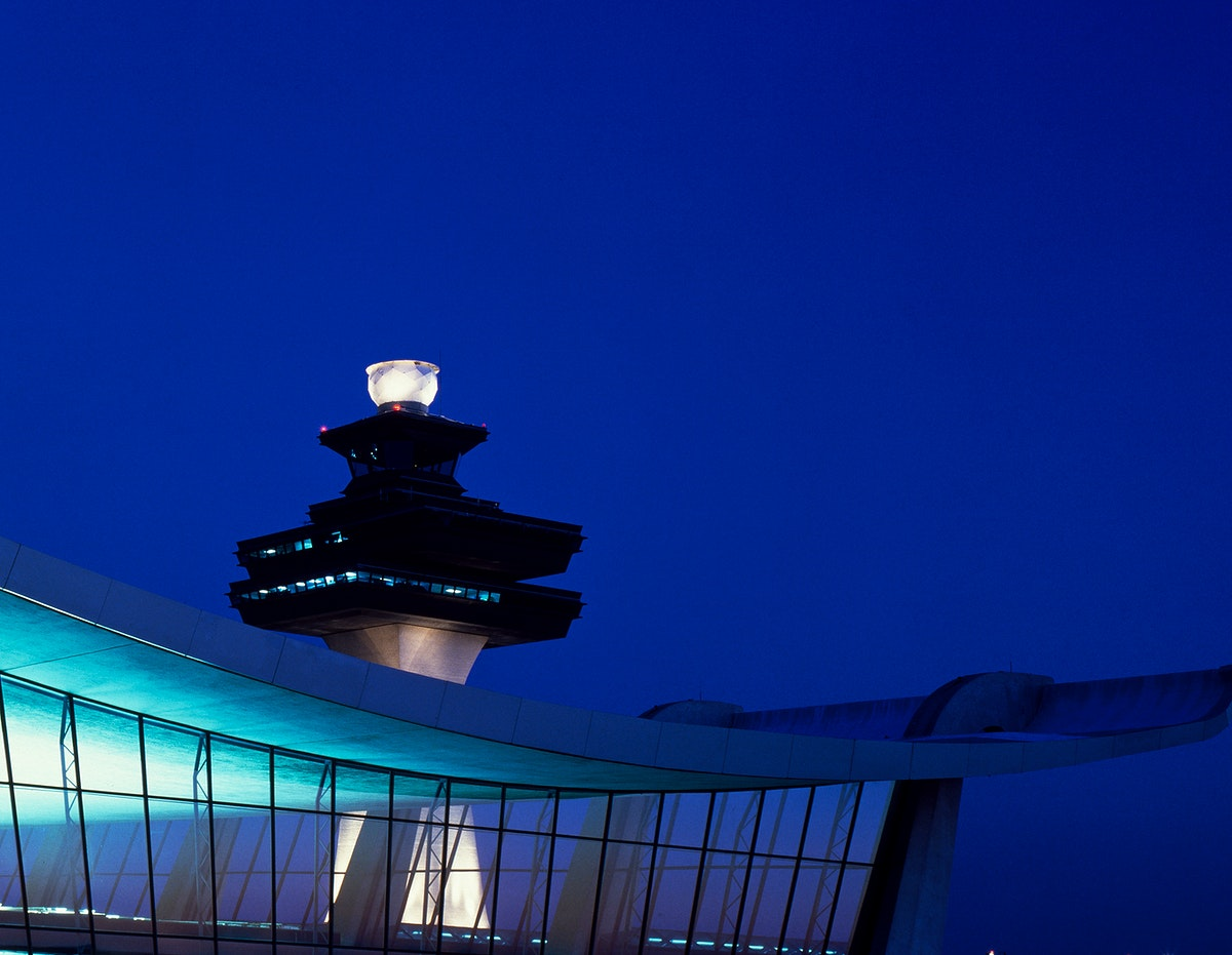 Dulles airport. Original image from Carol M. Highsmith's America, Library of Congress collection. Digitally enhanced by…