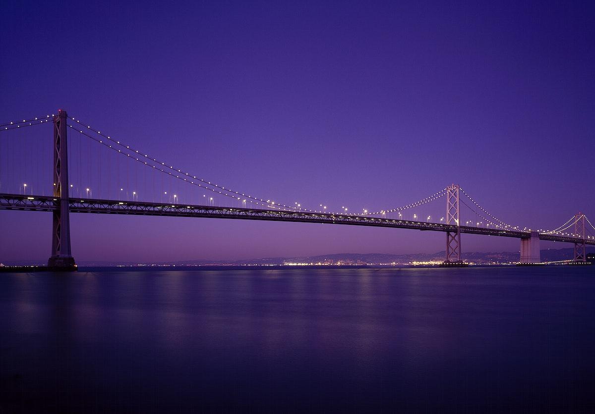 San Francisco Oakland Bay Bridge, USA - Original image from Carol M. Highsmith's America, Library of Congress…
