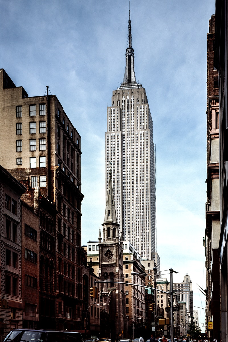 The Empire State Building. Original image from Carol M. Highsmith's America, Library of Congress collection. Digitally…