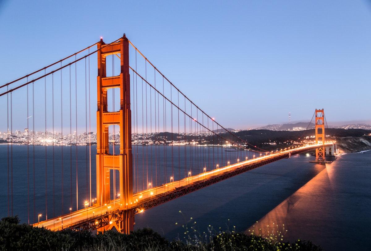 Golden gate bridge, San Fransisco USA - Original image from Carol M. Highsmith's America, Library of Congress…