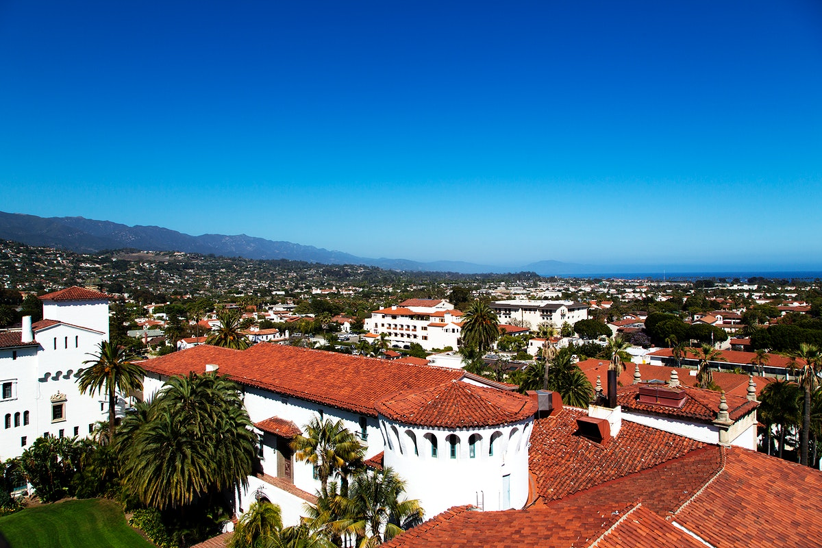 The Santa Barbara County Courthouse. Original image from Carol M. Highsmith's America, Library of Congress collection.…