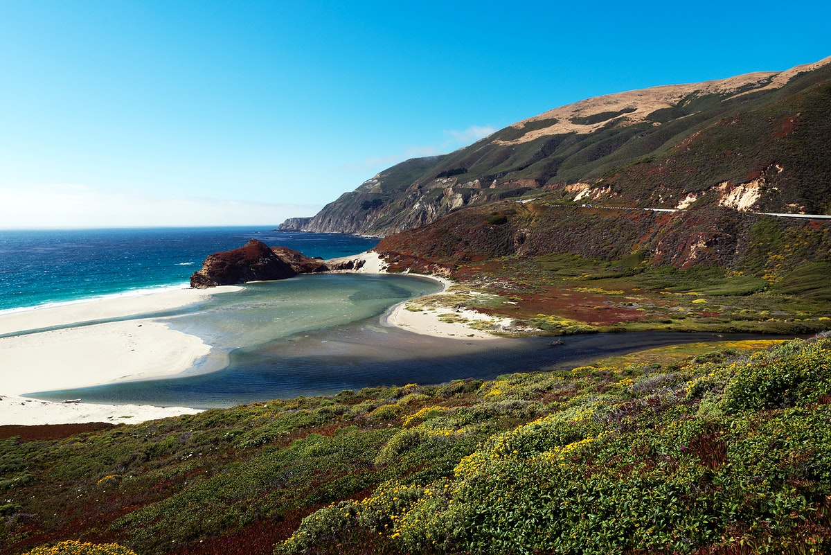 Pacific Coast Highway Scenic. State Route 1. Original image from Carol M. Highsmith's America, Library of Congress…