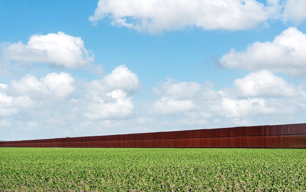 United States-Mexican border-security fence in Brownsville, Texas. Original image from Carol M. Highsmith's America…