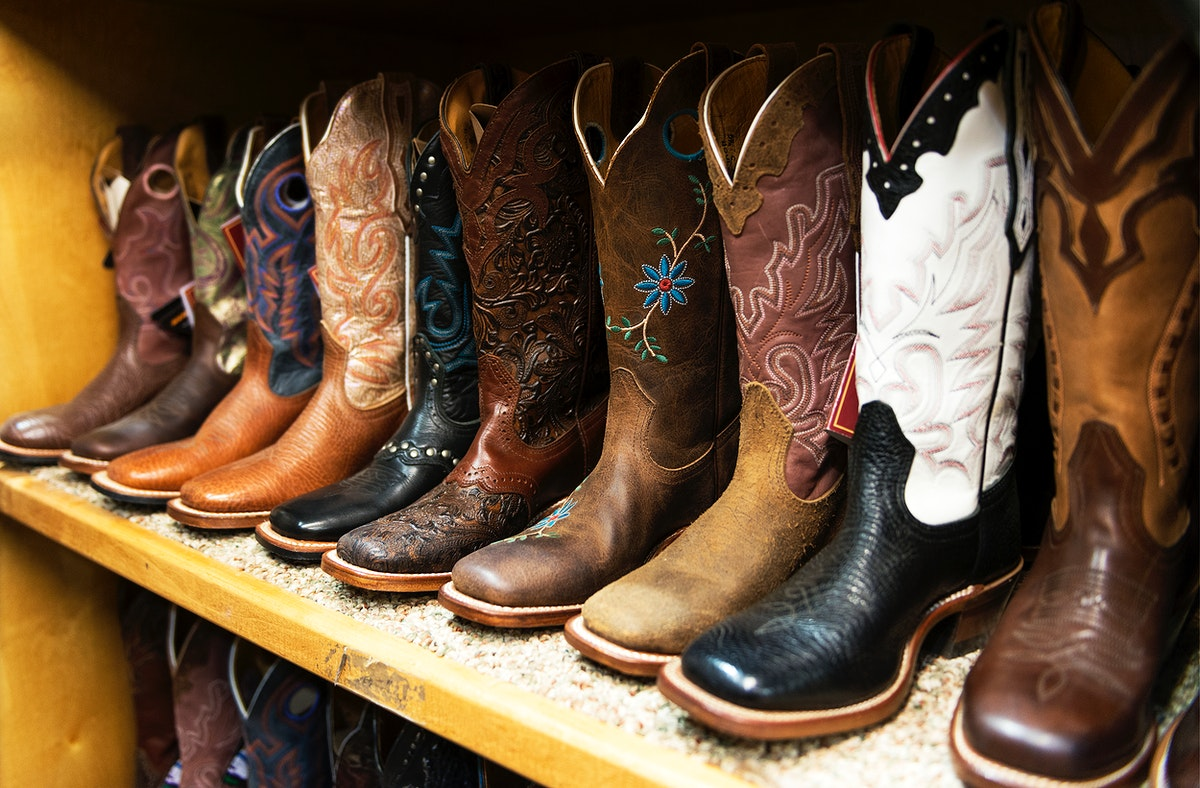 Fancy cowboy boots for sale at the San Antonio Stock Show and Rodeo. Original image from Carol M. Highsmith's America…