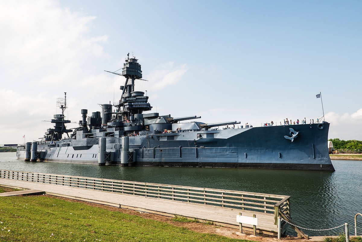USS Texas, the second ship of the United States Navy named in honor of the U.S. state of Texas. Original image from Carol M.…