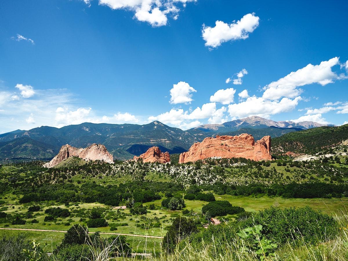 The Garden of the Gods, a public park in Colorado Springs, Colorado USA - Original image from Carol M. Highsmith's…