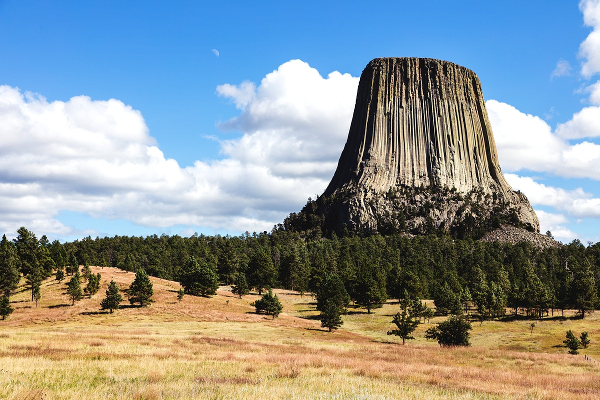 America's first declared national monument (in 1906): Devils Tower - Original image from Carol M. Highsmith's America…