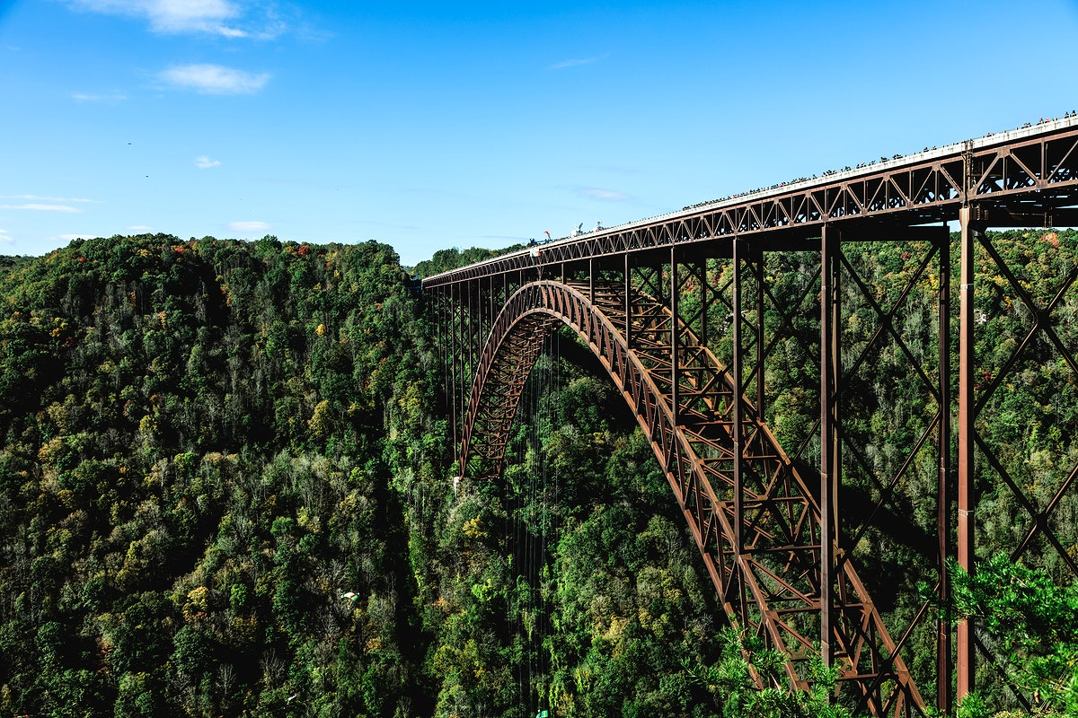 The New River Gorge Bridge. Original image from Carol M. Highsmith's America, Library of Congress collection. Digitally…