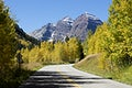 """The Maroon Bells, just outside Aspen in Colorado&#39;s Rocky Mountains USA - Fall aspens in San Juan County, Colorado USA - Original image from <a href=""""https://www.rawpixel.com/search/carol%20m.%20highsmith?sort=curated&amp;page=1"""">Carol M. Highsmith</a>&rsquo;s America, Library of Congress collection. Digitally enhanced by rawpixel"""