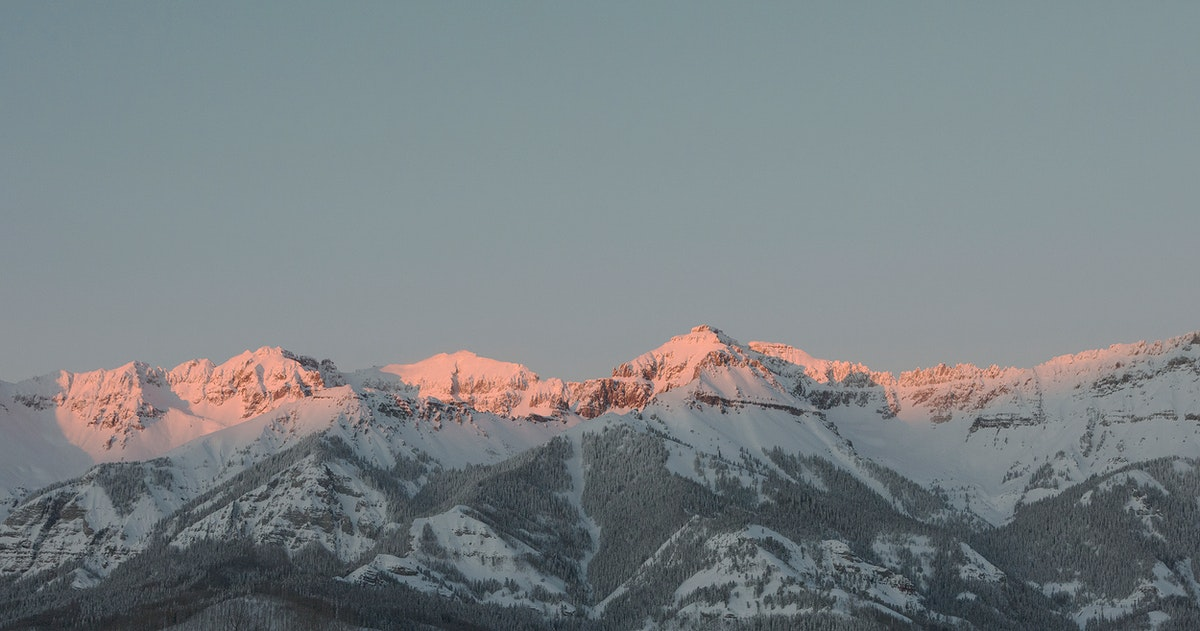 Mountain-sunset view from Telluride, once a mining boomtown and now a popular skiing destination in Colorado - Original image…
