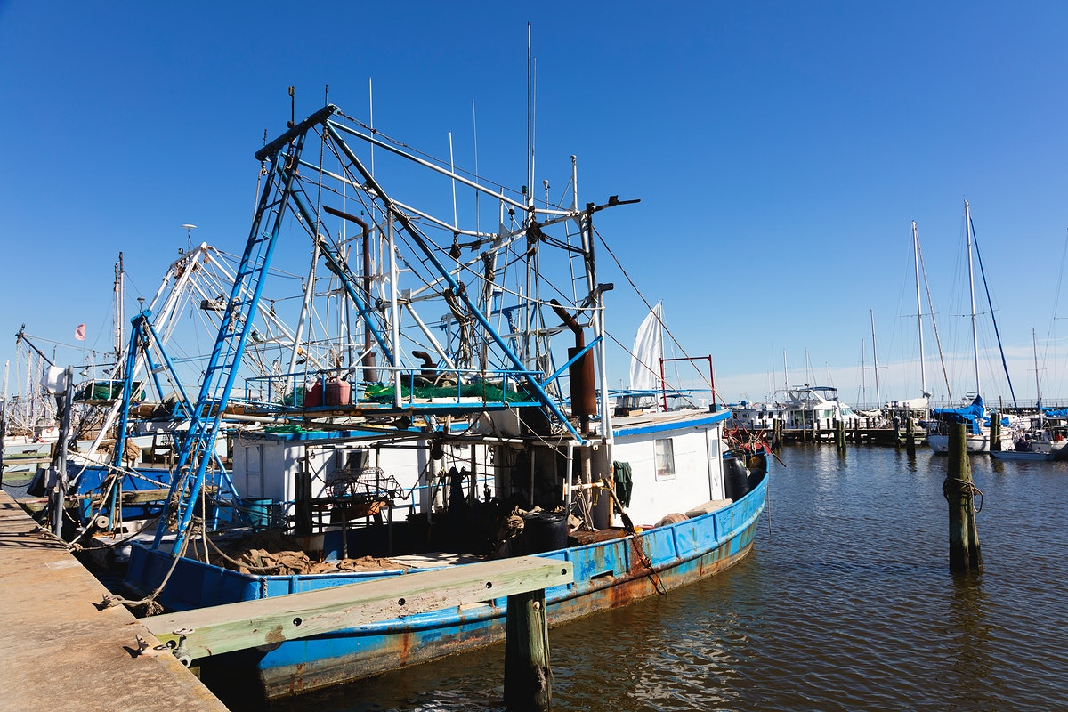 Harbor scene in the Mississippi Gulf Coast. Original image from Carol M. Highsmith's America, Library of Congress…