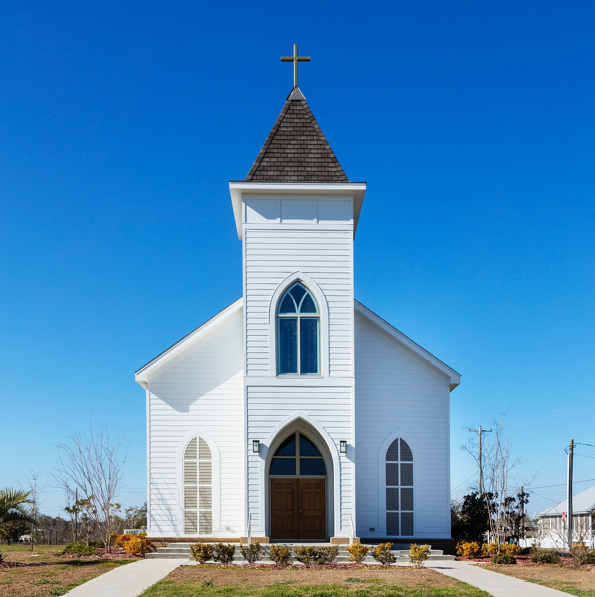 The rebuilt St. Paul Catholic Church in Pass Christian after the original was destroyed during 2005 Hurricane Katrina.…
