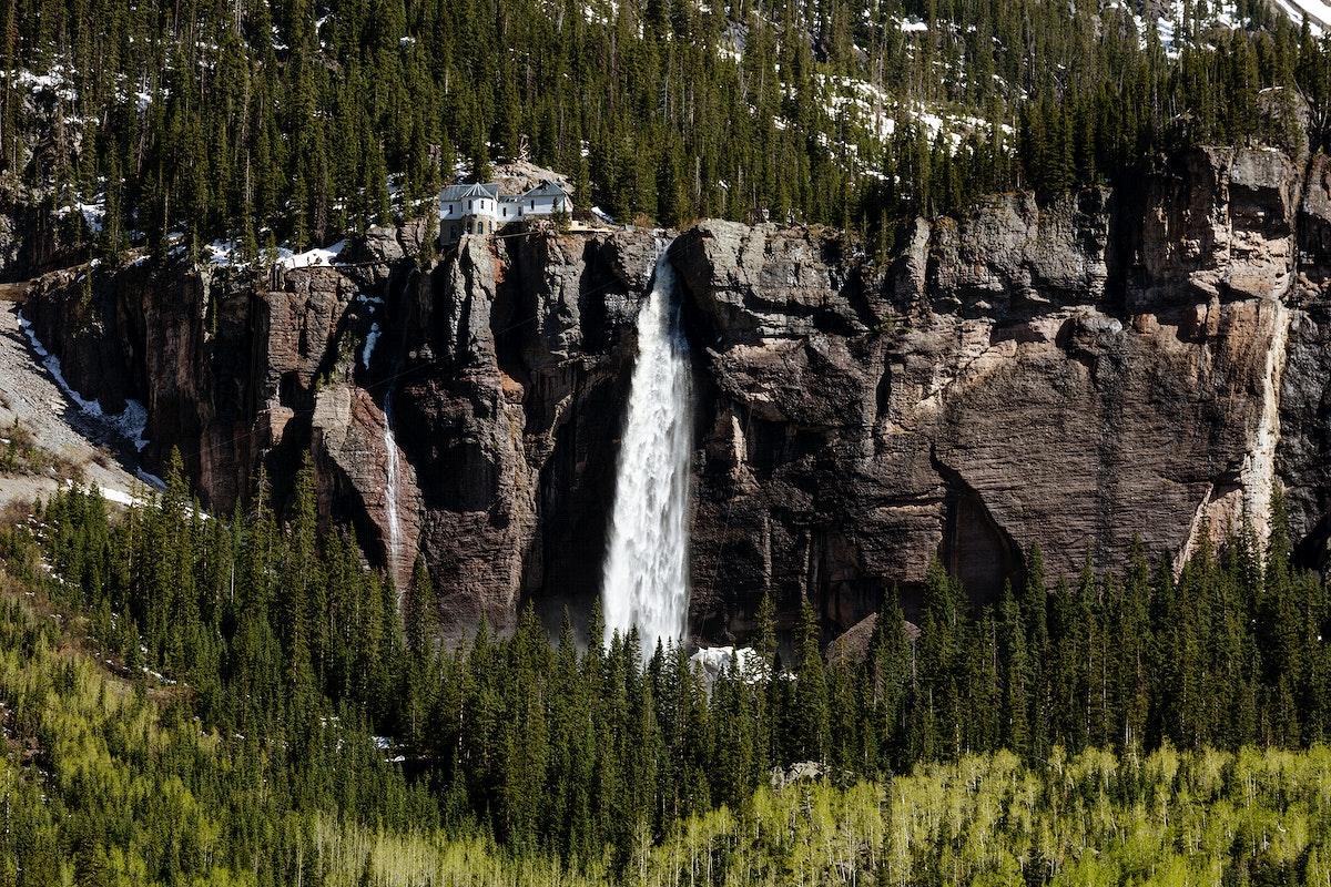 Bridal Veil Falls, Colorado USA - Original image from Carol M. Highsmith's America, Library of Congress collection.…