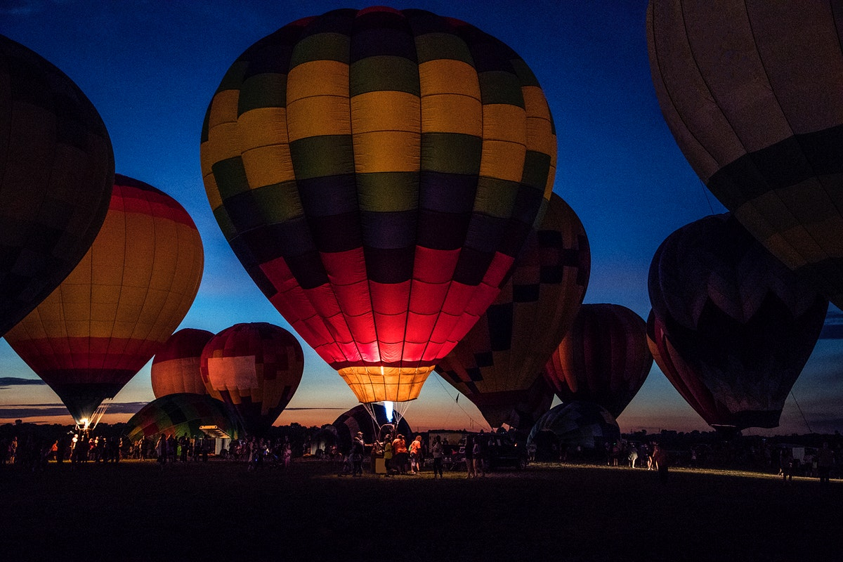 The National Balloon Classic in Indianola, US. Original image from Carol M. Highsmith's America, Library of Congress…