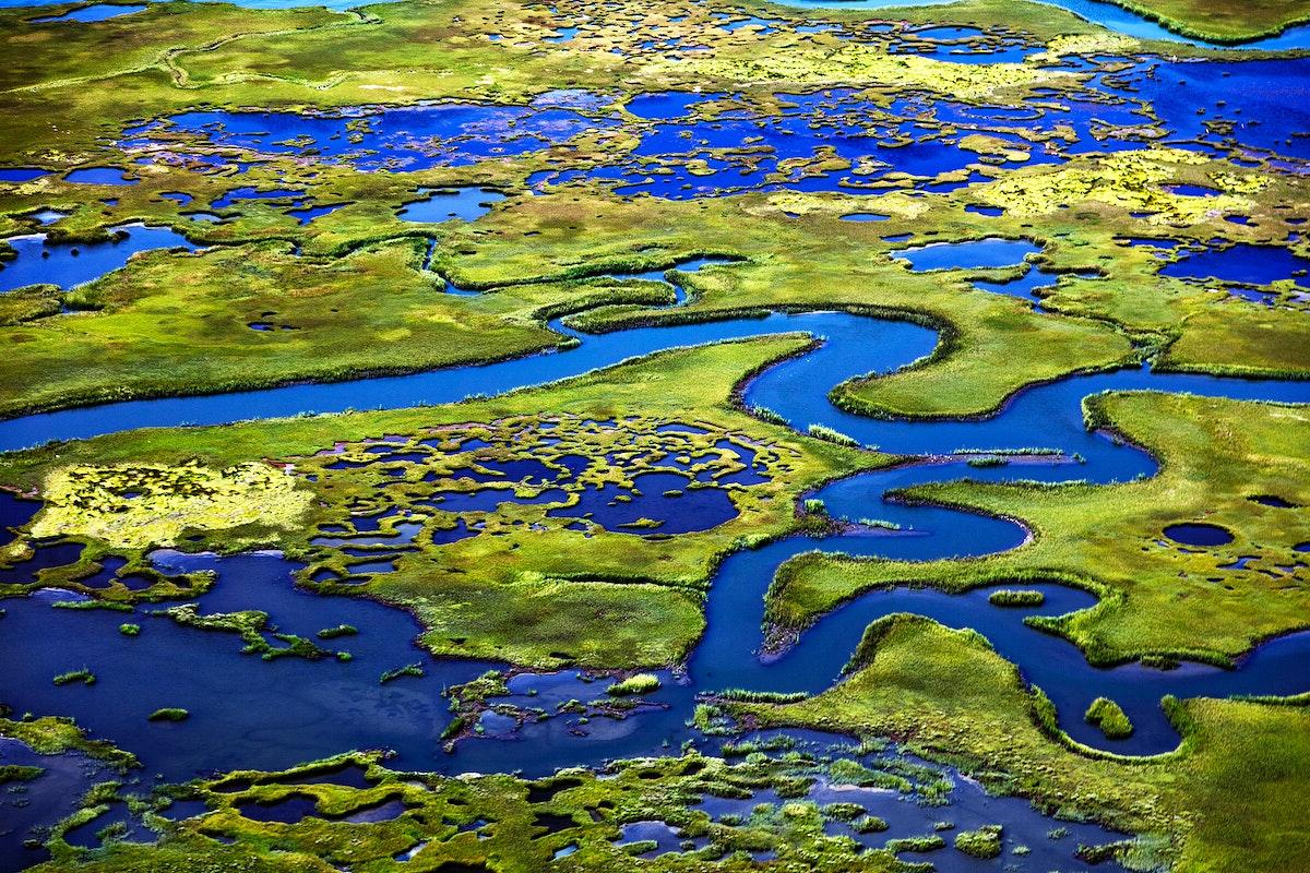 Marshlands on the New Jersey Shore near Little Egg Harbor, New Jersey. Original image from Carol M. Highsmith's…
