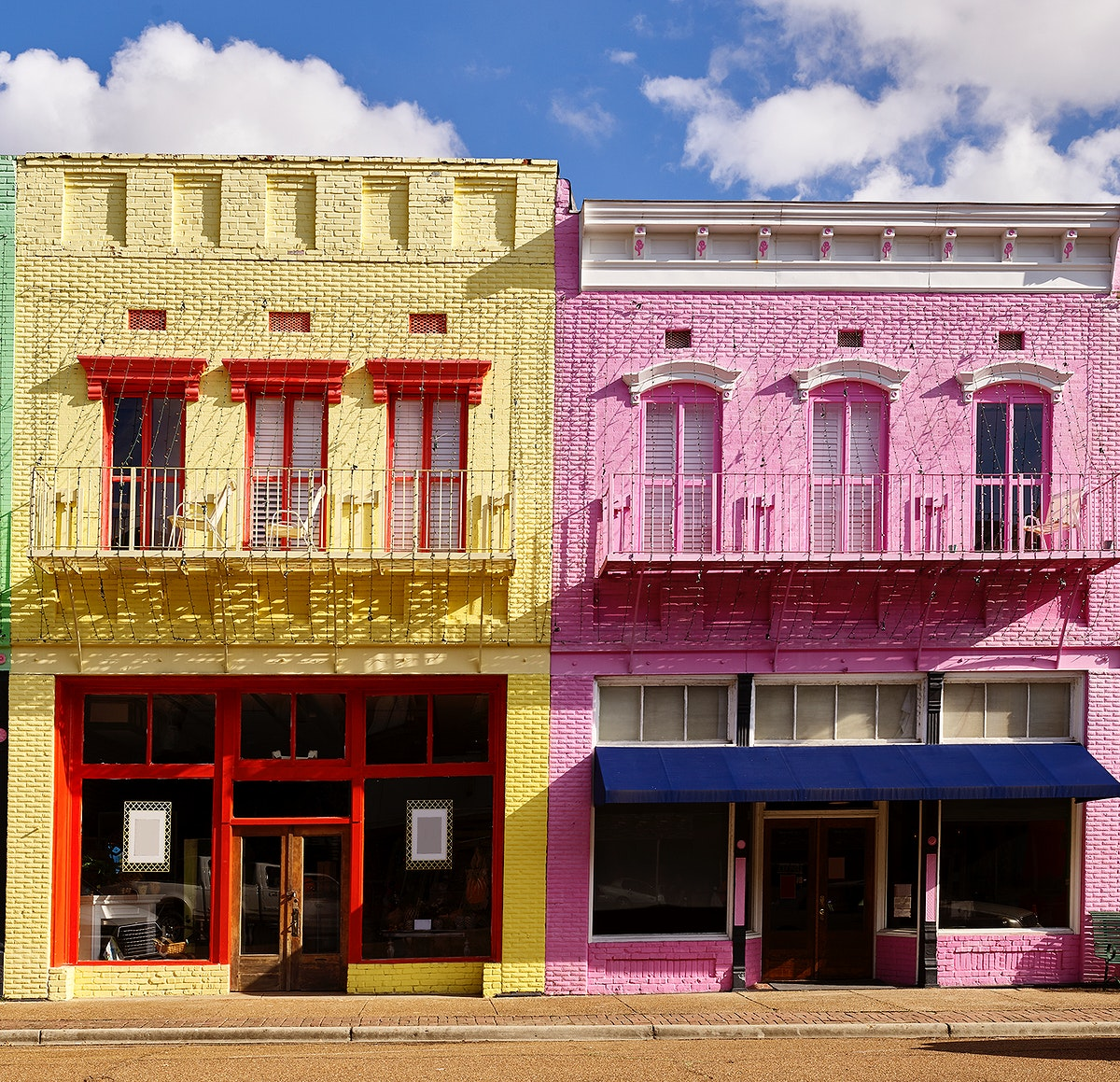 Yazoo City's in bold, Carribeanesque colors. Original image from Carol M. Highsmith's America, Library of Congress…