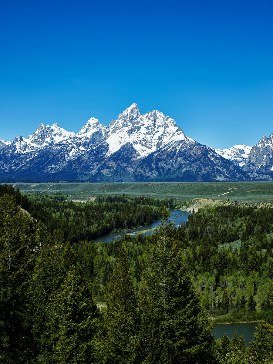 Spectacular peaks in the Teton Range seem to explode from the valley in Grand Teton National Park in northwest Wyoming.…