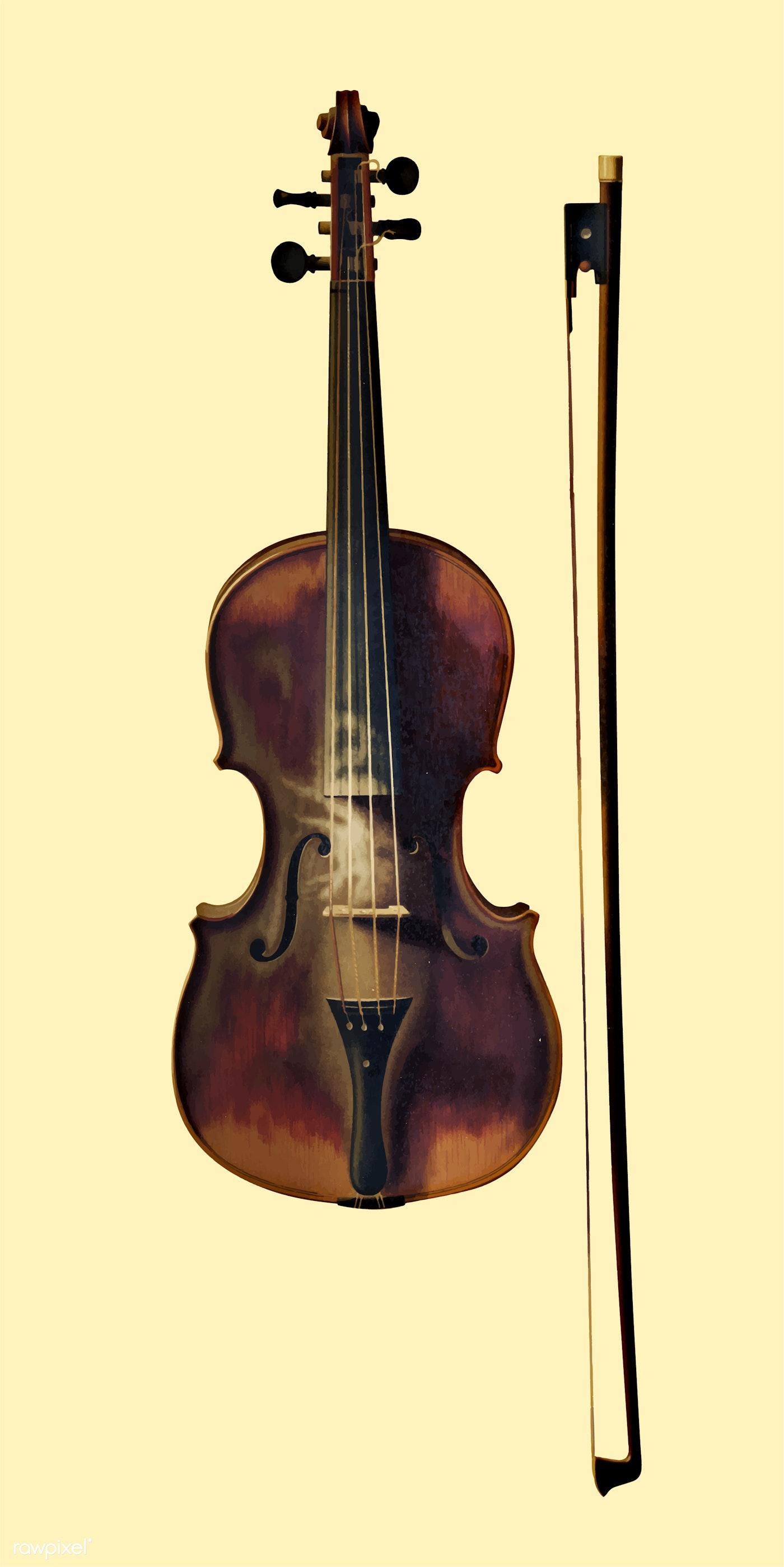 Vintage Illustration of Still Life with Violin. - ID: 471350