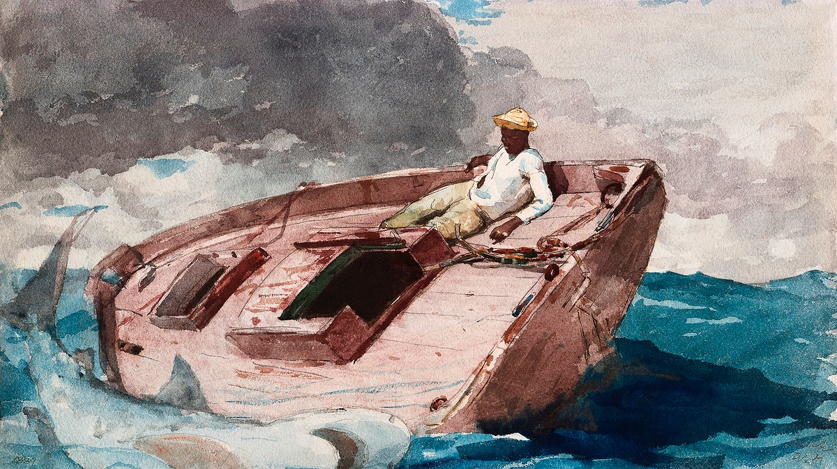 The Gulf Stream (1889) by Winslow Homer. Original from The Smithsonian Institution. Digitally enhanced by rawpixel.